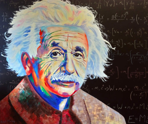 Albert Einstein Oil Painting