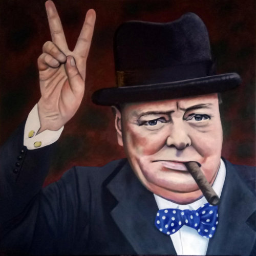 Winston Churchill Oil Painting