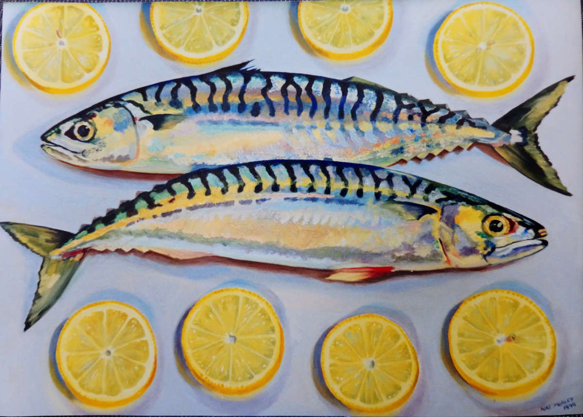 Fish Oil Painting Commission